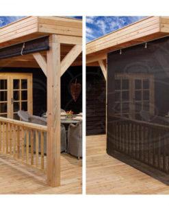 Egberdin buitenverblijf / veranda wand van zichtdoorlatend doek