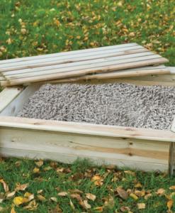 Zandbak vierkant met bankdeksel (Afmeting: L100xB100xH24cm)