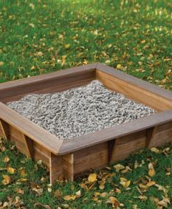 Zandbak hardhout inclusief afdekzeil (Afmeting: L120xB120xH30cm)