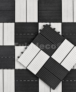 Tuintegel Premium composiet zwart-wit Quartz (L30xB30cm)