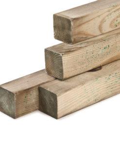 Geïmpregneerde tuinpalen, houtsoort: Midden-Europees grenen
