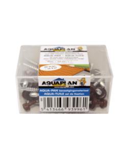 Aqua-pan rood schroef per doosje van 40 st. (6 schroeven per plaat benodigd)
