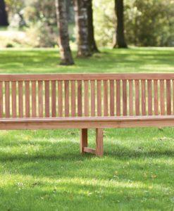 Teak Parkbank Norwich 225cm met extra midden poten