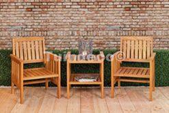 Duo single seat Canyon hardhout + bijzettafel