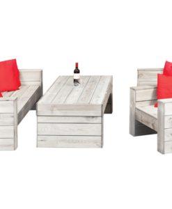 Lounge set Grey Yourself + 4 beits