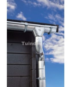 Extra uitloopset voor 100mm mastgoot 4-zijden dak