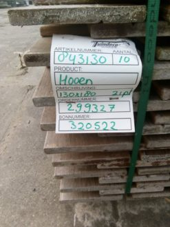 Hardhout tuinscherm 130x180