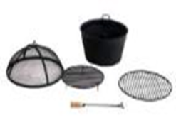 Jamie Oliver round 130cm fire pit and ice bucket