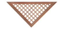 Kader voor recht scherm hardhout