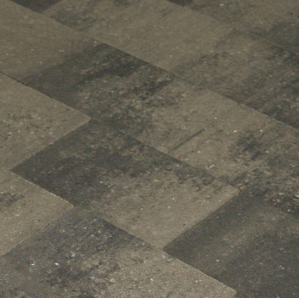 MB Vlakstone 20x30x6 grijs/zwart genuanceerd