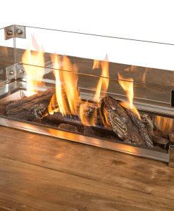 Glazen Ombouw Cocoon Table Inbouwbrander