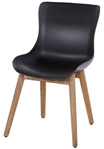 Natural teak frame met carbon black seat