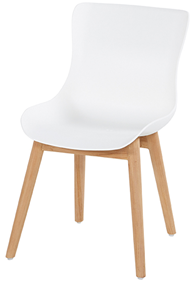 Natural teak frame met royale white seat