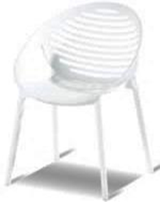 Romeo Stacking chair royal white
