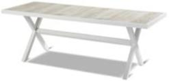 Royal white Canterbury ceramic table 247x96