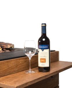 Happy Cocooning houten side table coated/rubber steunen, 1 set = 2 stuks