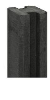 Sleufpaal Antraciet met vellingkant