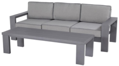 Titan Lounge 3-seater (Knock Down) with table 180x60x45cm Knock Down