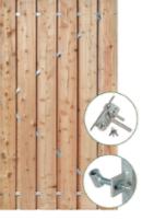 Tuindeur Privacy met RVS slot (voorzien van ijzeren frame)