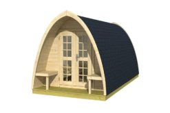 Pod Camping / Office double (incl. dubbel glas + shingles 28mm)