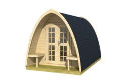 Pod Camping / Office single (incl. dubbel glas + shingles 28mm)