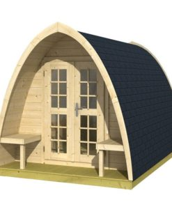 Pod Camping / Office single (incl. dubbel glas + shingles 28mm)