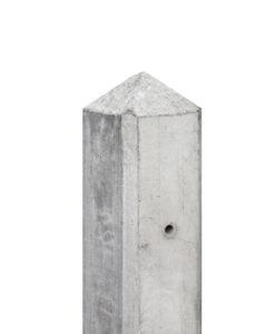 Diamantkop palen wit/grijs met vellingkant