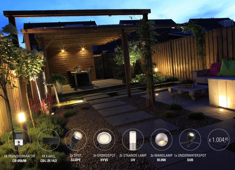 Tuinverlichting In Tegel : In lite tuinverlichting startpakket vermeulen steen hout