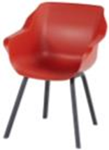 Sophie Element Armchair -carbon black frame and vulcano red seat