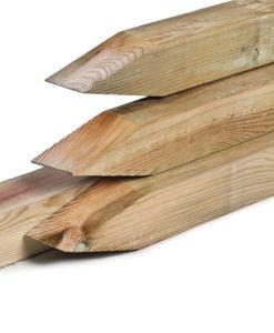 Geïmpregneerde tuinpalen met punt, houtsoort: Midden-Europees grenen