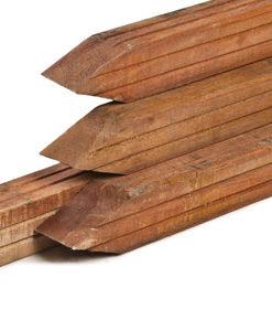 Hardhouten palen met punt, houtsoort: Azobé 4-zijdig