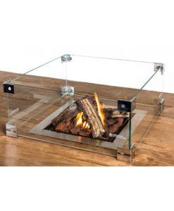 Glazen ombouw Cocoon Table Inbouwbrander Rechthoek