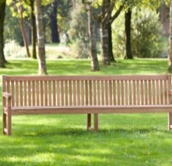Teak parkbank Norwich 210cm