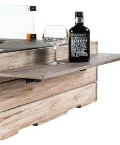 Houten Side Table Nice And Nasty met 2 poeder coated/rubber steunen