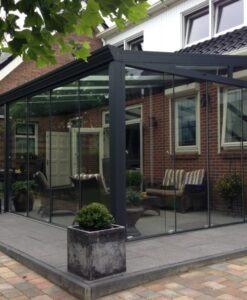 Tuinkamer tot 400 cm diep + Glasschuifwanden en glazen dak