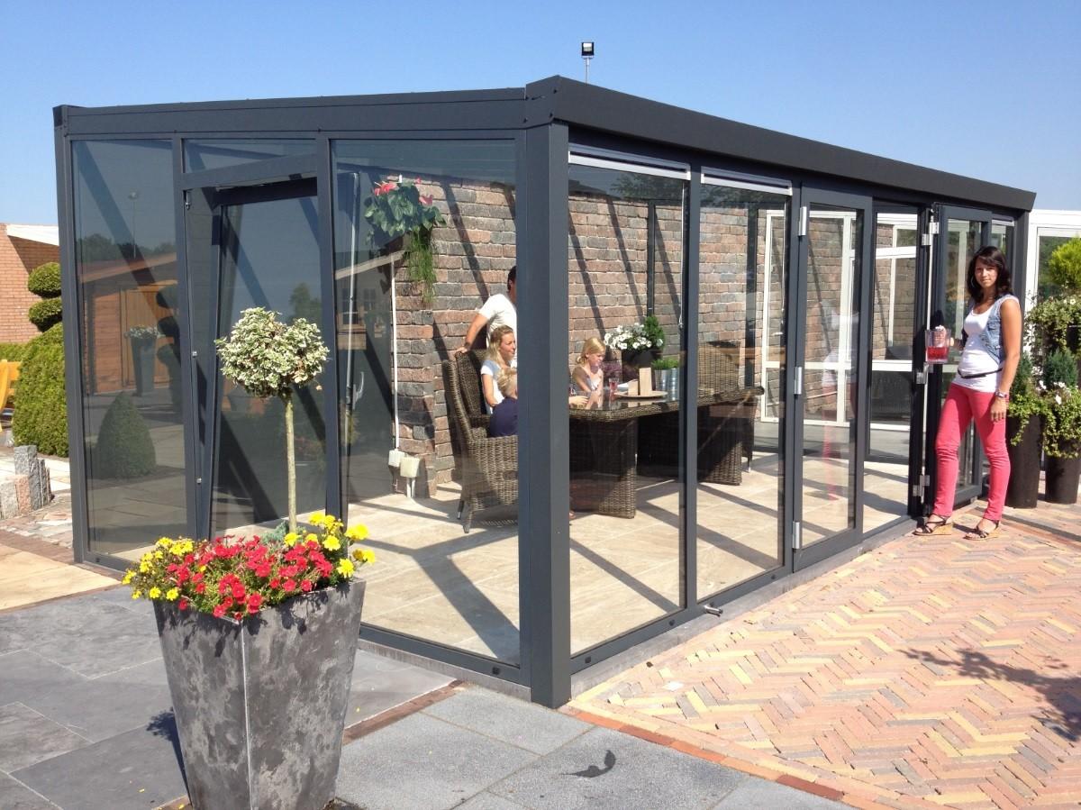 Spiksplinternieuw Tuinkamer tot 350 cm diep + Glasschuifwanden en glazen dak KM-97