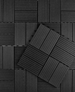 Tuintegel Premium composiet antraciet (L30xB30cm)